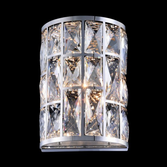 Aplica Maytoni Gelid, metal cromat, decoratiuni din cristal, 1XG-9
