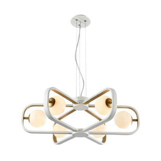 Lustra Maytoni Avola, modern, alb, auriu, 6XG9