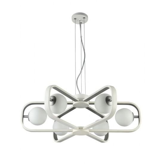 Lustra Maytoni Avola, modern, alb, argintiu, 6XG9