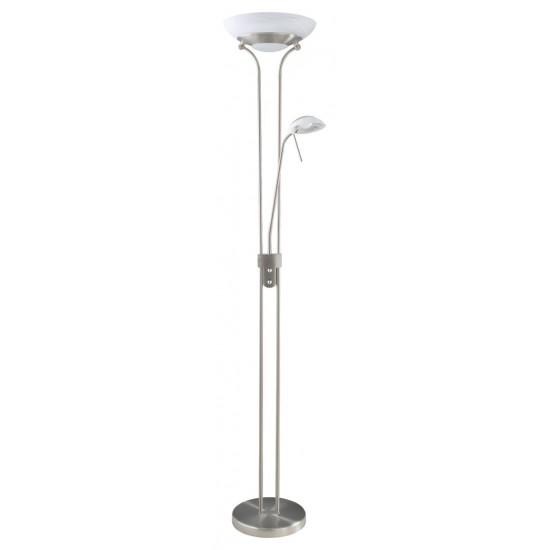 Lampadar Rabalux Neil, crom satinat, LED, 24W, 2300 lumeni, alb cald 3000K, H.180 cm, 4468