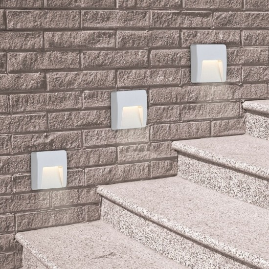 Aplica exterior Trento, alb, LED, 3W, 100 lumeni, 4000K, IP65, 8893