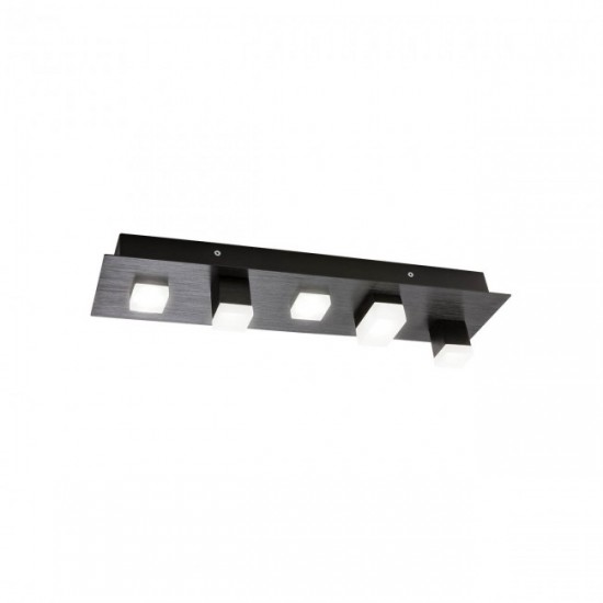 Plafoniera Redo Pixel, negru, LED, 15W, 760 lumeni, alb cald 3000K, 01-2013