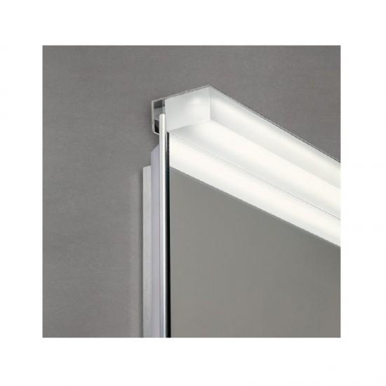 Aplica Redo Ermes, crom, LED, 12W, 864 lumeni, IP44, 60 cm