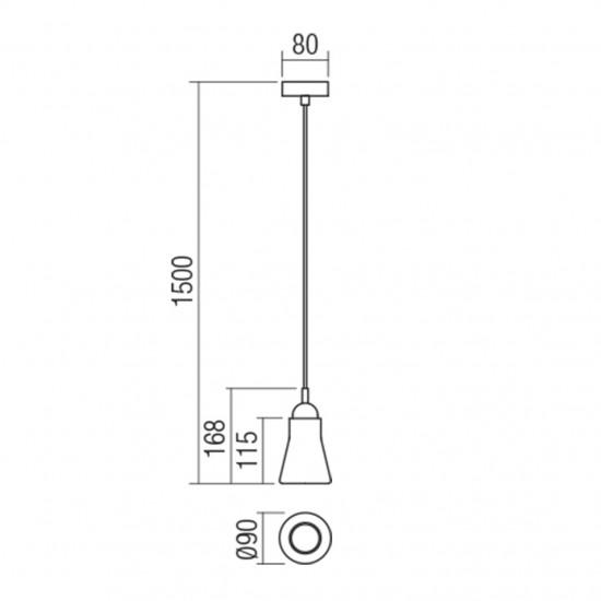 Suspensie Redo Upper, negru, 1XGU10, 01-1519