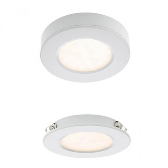 Spot alb, LED, 3W, 381 lumeni, alb cald 3000K, 70371