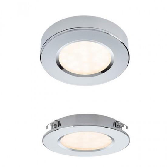 Spot crom, LED, 3W, 381 lumeni, alb cald 3000K, 70372