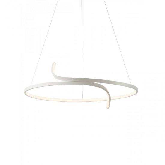 Suspensie Redo Giro, alb mat, LED, 43W, 3456 lumeni, alb cald 3000K, 76 cm, 01-2240