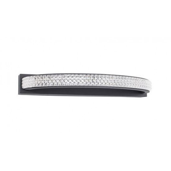 Aplica Nova Luce Grania, negru mat, LED, 6.5W, 400 lumeni, alb cald 3000K, 9818513