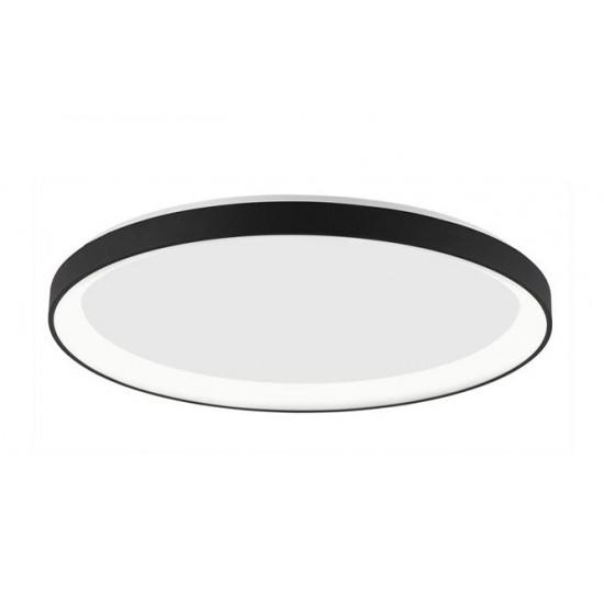 Plafoniera Nova Luce Pertino, negru, LED, 38W, 2280 lumeni, alb cald 3000K, D.48 cm, 9853674