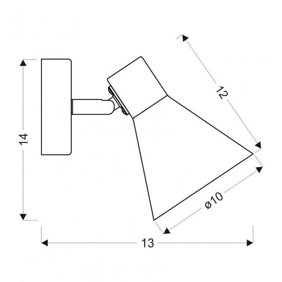Aplica Candellux Loess, negru, 1XE14, 21-70968