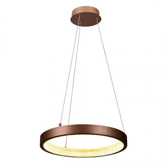 Suspensie Maxlight Karo, maro, LED, 20W, 1250 lumeni, alb cald 3000K, 40 cm, P0382