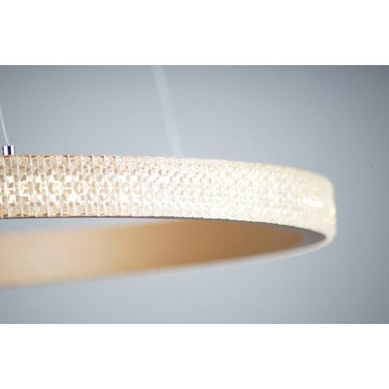Suspensie Maxlight Karo, maro, LED, 30W, 1800 lumeni, alb cald 3000K, 60 cm, P0383