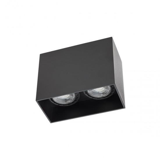 Plafoniera Arelux XCard, negru, 2XGU10, CD02 SBK