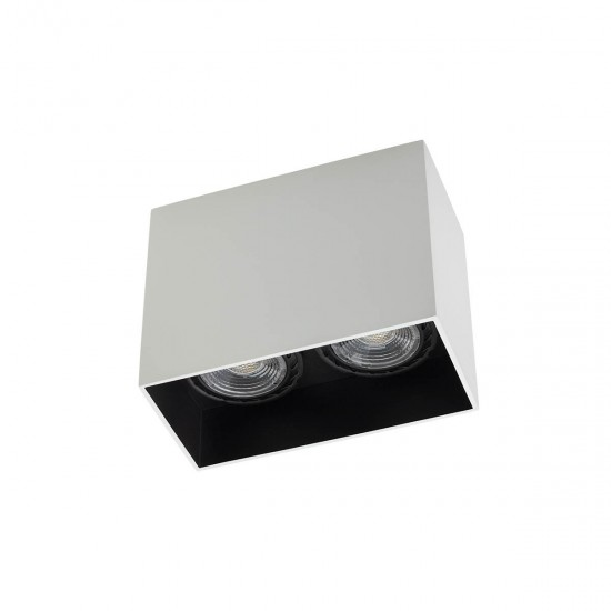 Plafoniera Arelux XCard, alb, 2XGU10, CD02 SWH