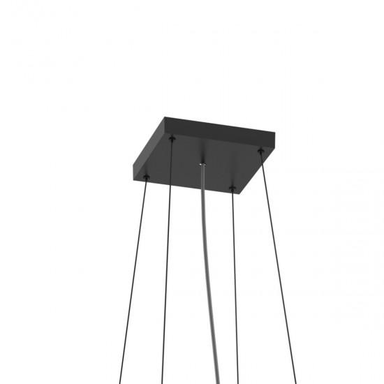 Sistem de suspendare cu 3 fire, negru, XPill Square, PXQ0123SU SBK