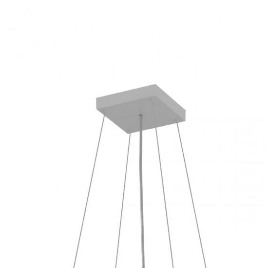 Sistem de suspendare cu 3 fire, alb, XPill Square, PXQ0123SU SWH
