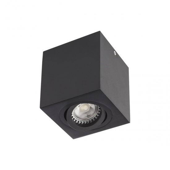 Plafoniera Arelux XBrix, negru mat, 1XGU10, BX01 BK