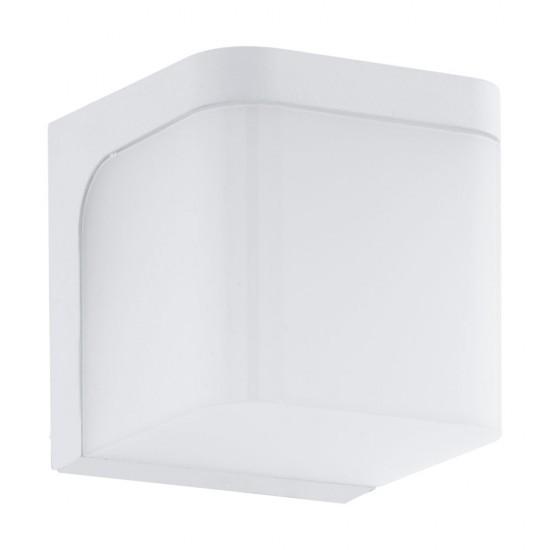 Aplica exterior Jorba, alb mat, LED, 6W, 500 lumeni, 3000K, IP44, 96255