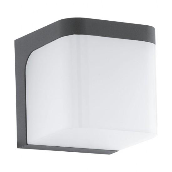 Aplica exterior Jorba, gri inchis, LED, 6W, 500 lumeni, 3000K, IP44, 96256