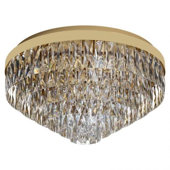 Plafoniera Eglo Valparaiso, auriu, cristal, 11XE14, 58 cm, 39458