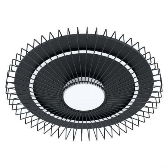 Plafoniera Eglo Badaleos, negru, LED, dimabil, 34.5W, 4350 lumeni, 3000K, 57 cm, 39799
