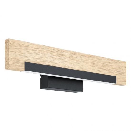 Aplica Eglo Camacho, negru, lemn, LED, 8.5W, 1050 lumeni, alb cald 3000K, 99294