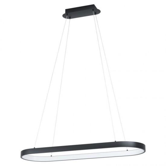 Suspensie Eglo Codriales, negru, LED, 30W, 3700 lumeni, alb cald 3000K, 99358