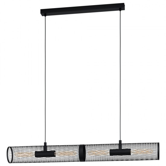 Suspensie Eglo Redcliffe, negru mat, 4XE27, L.5108cm, 43534