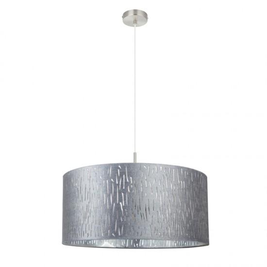Suspensie Globo Tarok, nichel mat, argintiu metalizat, 3XE27, 15265H1