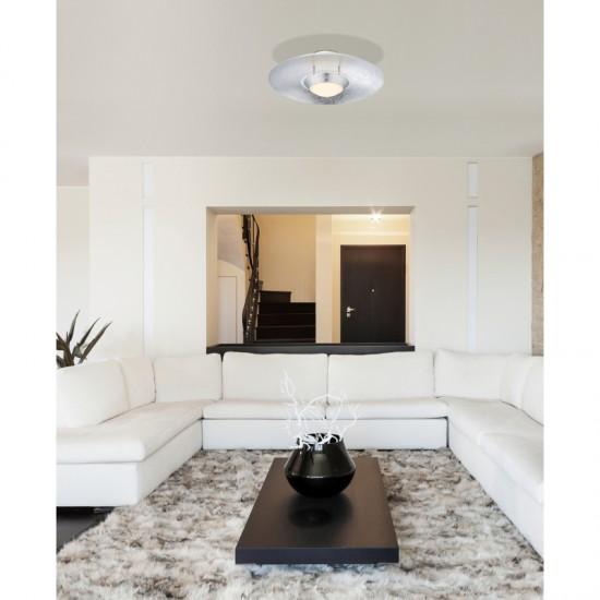 Plafoniera Globo Atna, argintiu, LED, 18W, 1440 lumeni, 3000K, 41903D