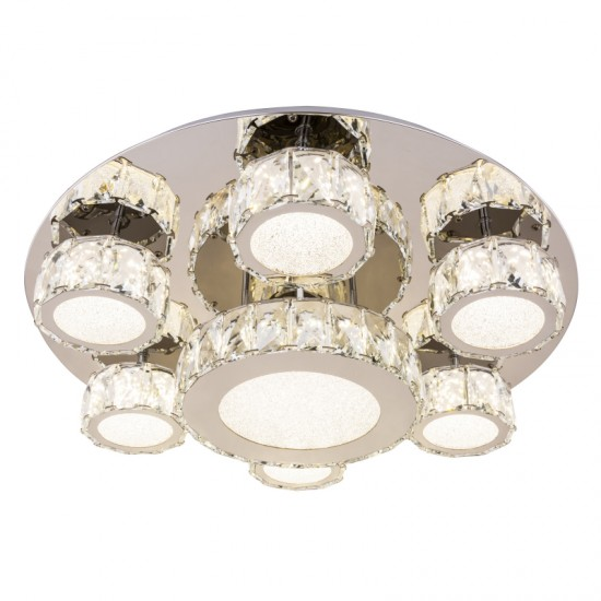 Lustra Globo Amur, crom, LED, 60W, 3780 lumeni, 4000K, 49350-60