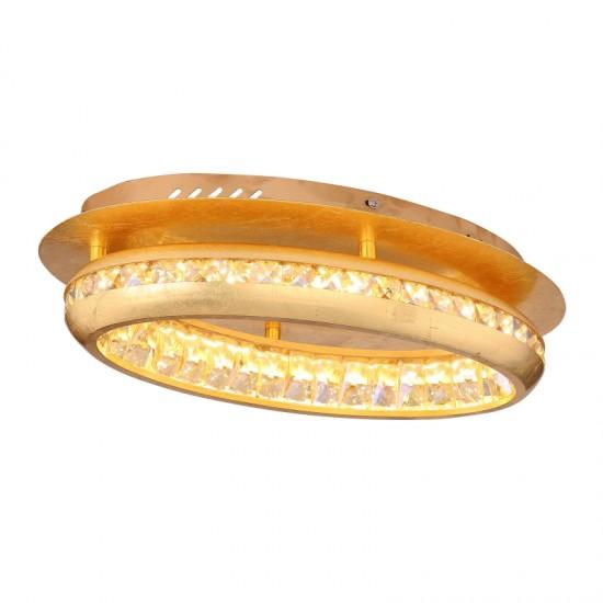 Plafoniera Globo Hommi, auriu, LED, 18W, 1620 lumeni, 4000K, 67096-18G