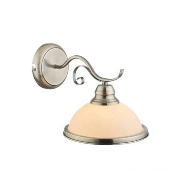 Aplica Globo Sassari, alama antica, sticla alba, 1XE27, 6906-1W