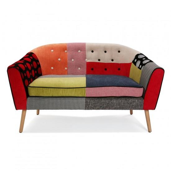 Canapea 2 persoane, multicolor, Nolan
