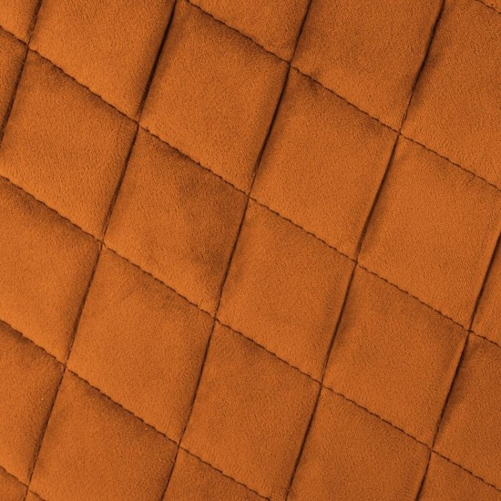 Fotoliu catifea maro Marlo, picioare din metal negru, cusaturi laterale ton-pe-ton, 157153E