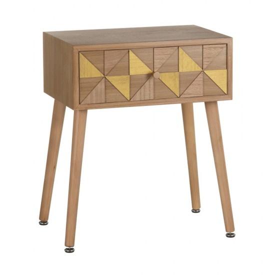 Noptiera din lemn si MDF, cu sertar, Aida, 600317