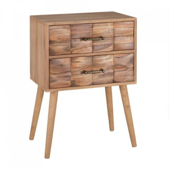 Noptiera din lemn natur, 2 sertare, Ava, 152975