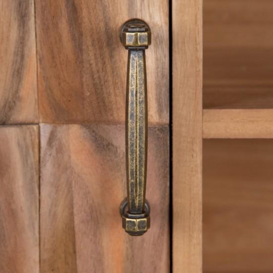 Comoda pentru TV din lemn natur, 4 compartimente, Ava, 152979