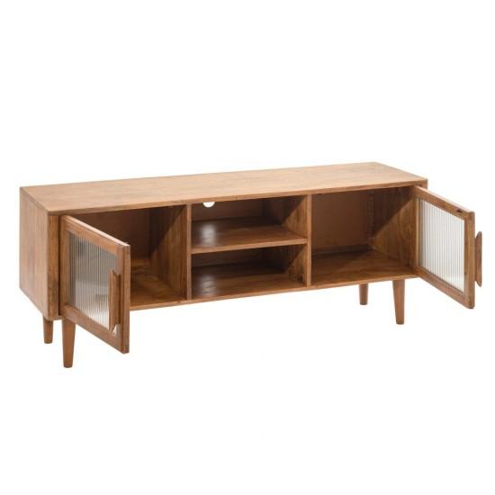 Comoda pentru TV maro, lemn si sticla, Cintia, 152794