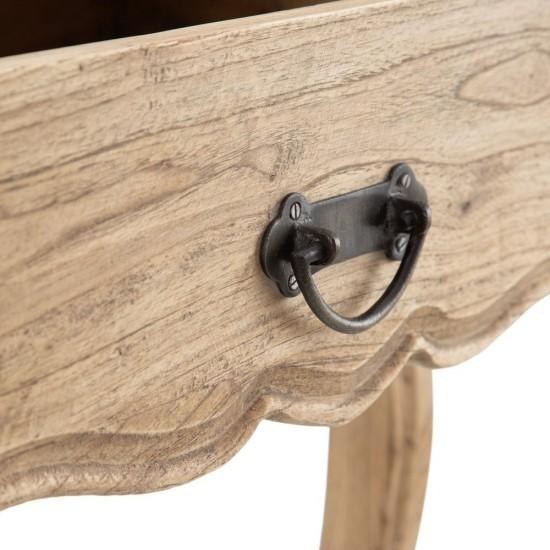 Noptiera din lemn maro, cu sertar, Dorah, 601425