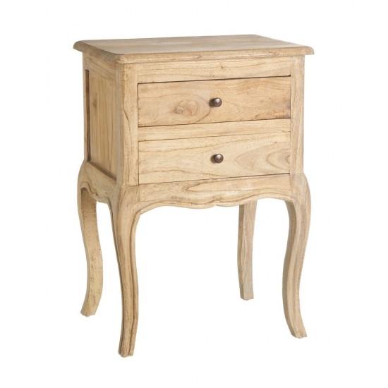 Noptiera din lemn natur, 2 sertare, Eva, 151176