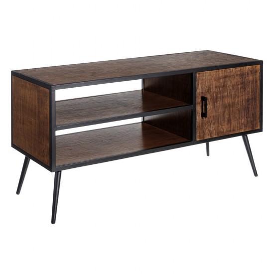 Comoda pentru TV, lemn si metal negru, Gina, 108973