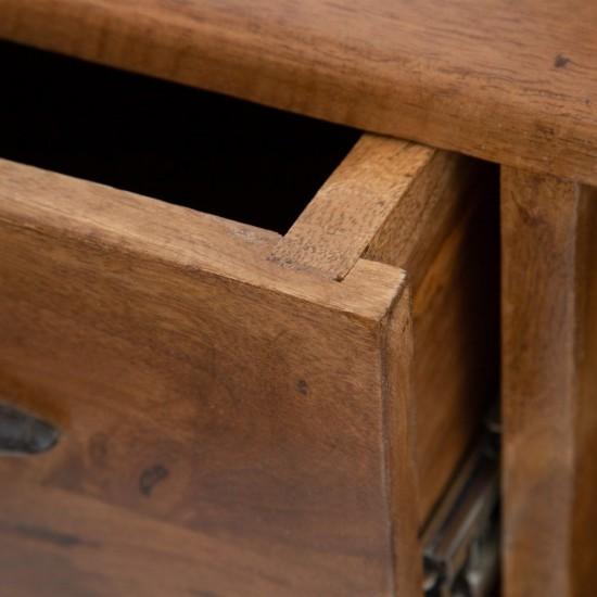 Comoda pentru TV din lemn de mango, 4 compartimente, Helena, 603040