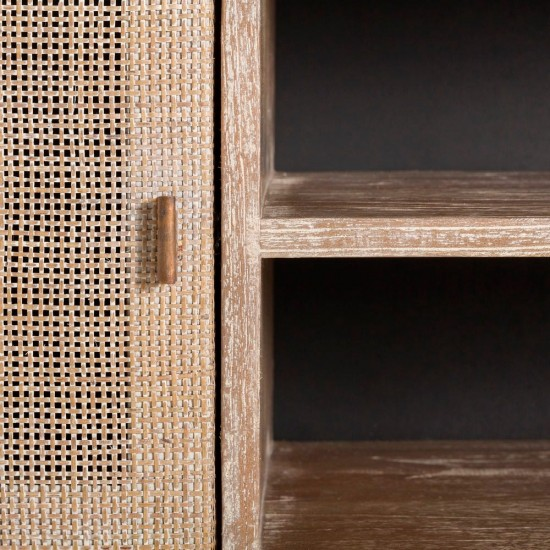 Comoda pentru TV din lemn, 4 compartimente, Juana, 106722