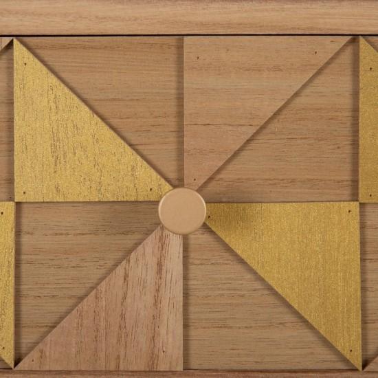 Consola din lemn si MDF, 2 compartimente, Aida, 600321