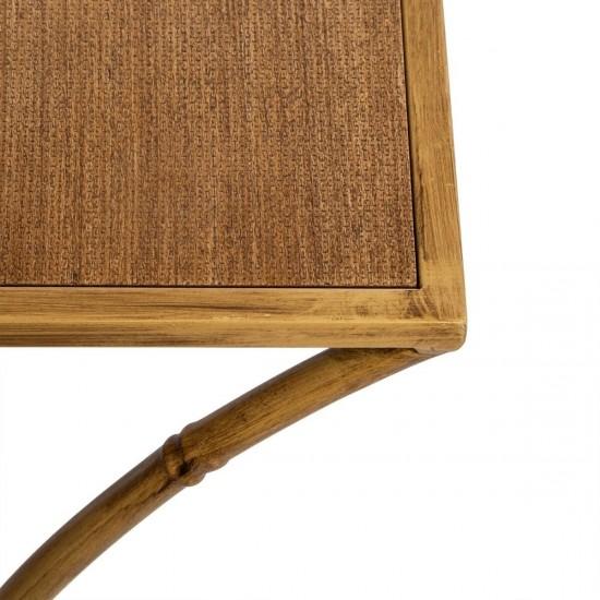 Set 2 masute cu blat din MDF, structura metalica tip bambus, Asco, 166617