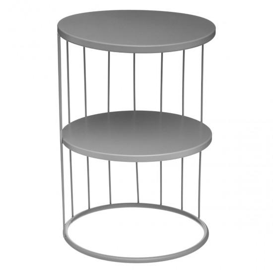 Masuta gri din metal, rotunda, Kobu, 157206B