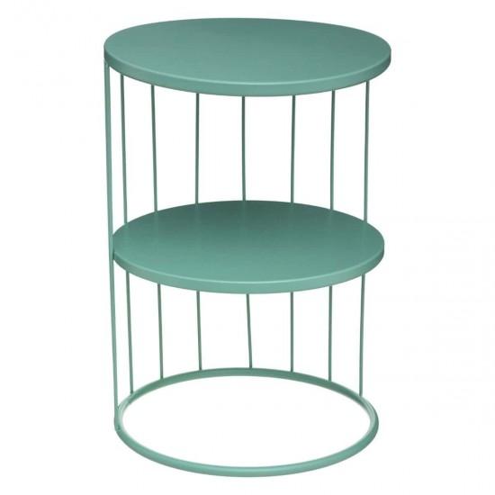 Masuta verde din metal, rotunda, Kobu, 157206C