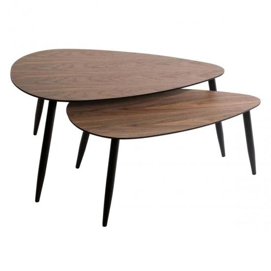 Set 2 masute din lemn si MDF, Mileno, 166641