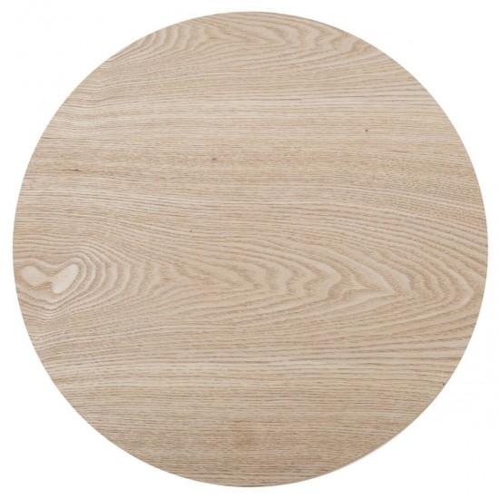 Set 3 masute cafea, lemn si MDF, rotunde, Mileo, 157070